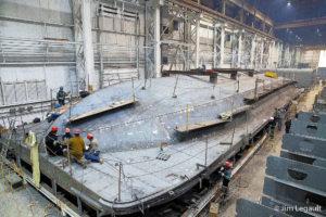 Under construction at Fincantieri Bay Shipbuilding, photo by Jim Legault